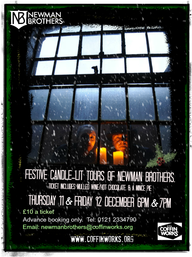 Poster advertising festive tours at newman brothers