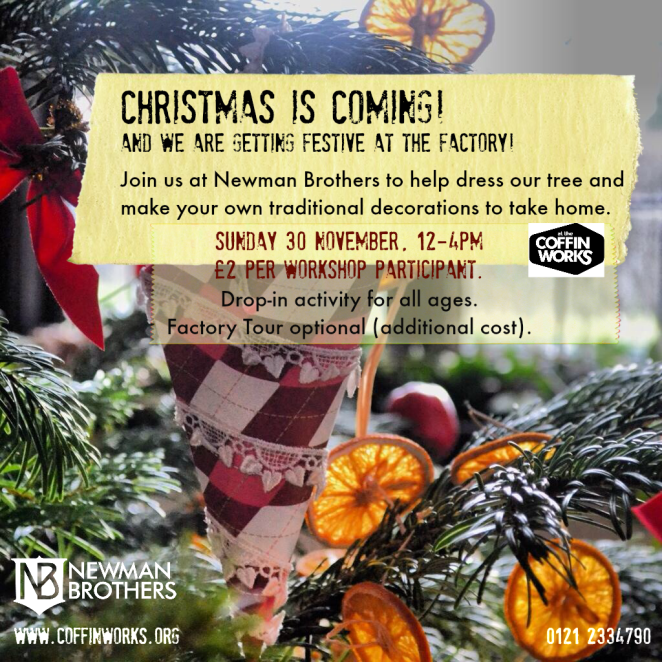 decorate the tree workshop poster