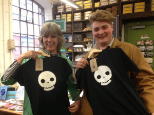 Modelling the wares: we're not actually sure if this is a selling point or not…..