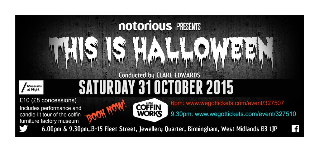 This Is Halloween Advert B&W with booking details