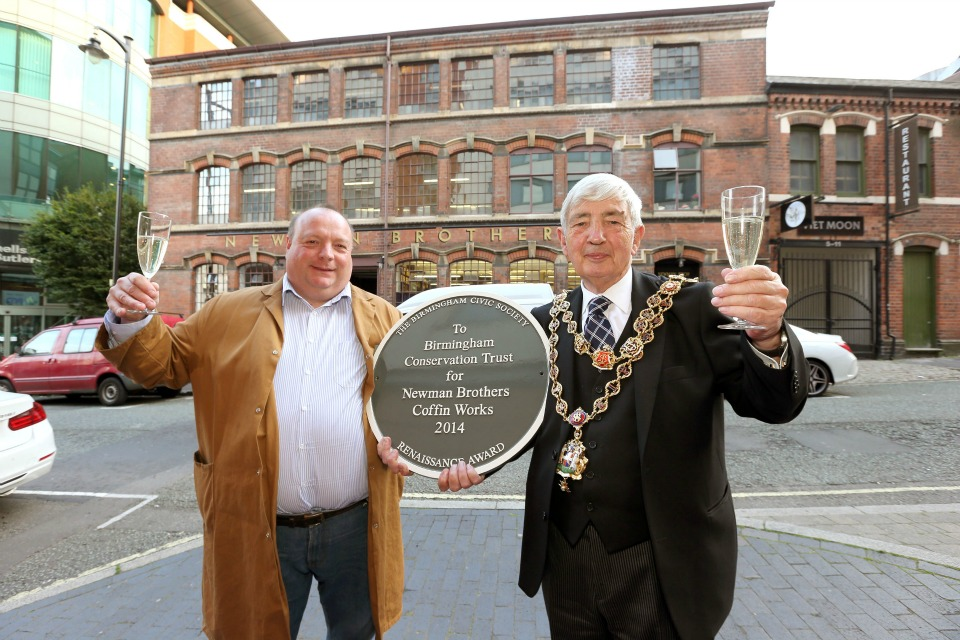 Tim Prince and the Lord Mayor at our celebration event