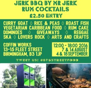 Get a taste of the Caribbean with 876StreetFood at the Coffin Works!