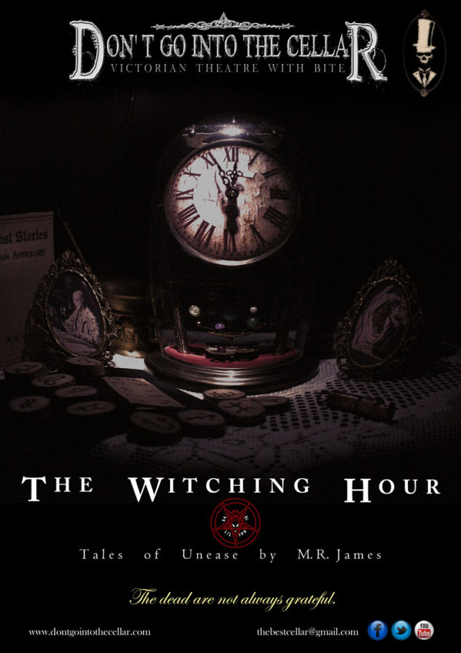 The Witching Hour, Tales of Unease by MR James flyer. Tagline: The dead are not always grateful