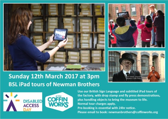 Disabled Access Day 12th March 2017. three images of BSL tours
