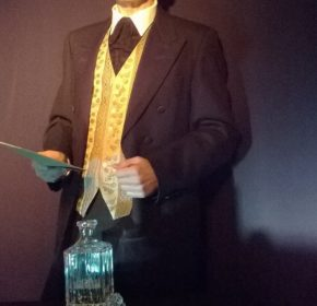 Actor dressed as Utterson in Strange Case of Dr Jekyll and Mr Hyde