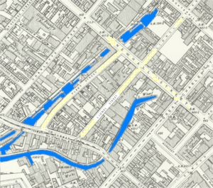 map of the area surrounding Lionel Street